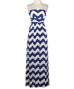 Navy and White Chevron Dress - LOVE this!!