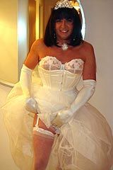 Wonderful cross dressing service bride from Dress Me Up