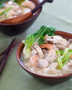 Seafood Miso Soup {steamykitchen.com} Beautiful presentation and I will be making this for sure!