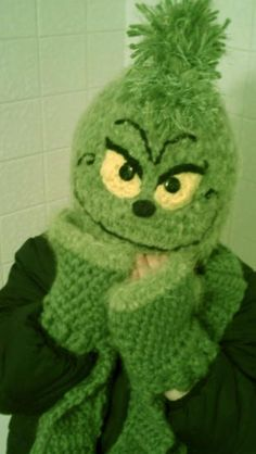 Grinch Knit Hat #Christmas #Seuss