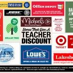 100+ Stores That Give a Teacher Discount. I wish I would have known about this a long time ago!!! classroom, idea, school, save, teacher discounts, educ, 100 store, teacher discount stores, teachers