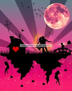 Romantic Vector Artwork by Courtney Dutton on ARTwanted