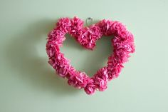 Blossom your decor with a DIY Valentine's Wreath! #love