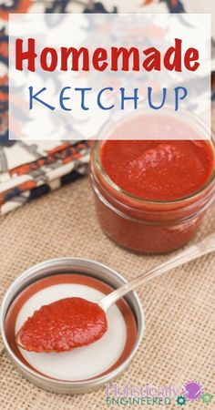 Homemade Paleo Ketchup (no sweetener added) | holisticallyengineered.com #Whole30 #Paleo #21DSD
