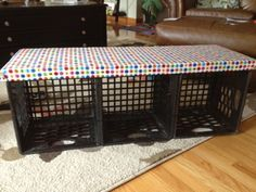 DIY Crate Bench. easy and cheap for garage mudroom