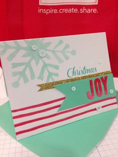 Stampin' Up! demonstrator Dawn D's project showing a fun alternate use for the Watercolor Winter Simply Created Card Kit.
