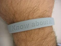 'KNOW ABOUT IT' - Pale Blue Charity Wristband for The Prostate Cancer UK Charity - £5.00 for 5 x Wristbands.