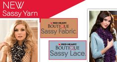 Introducing Red Heart Boutique Sassy Fabric and Sassy Lace!