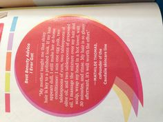 Shiny hair recipe from Oprah magazine