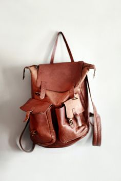 Leather Backpack..