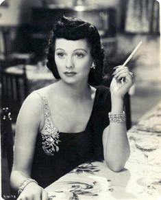 Lucille Ball with dark hair, 1930s.