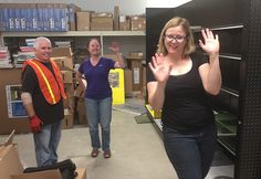 Don from Strathmore and Jackie and Christa from MacPherson - getting groovy during the set up.