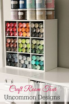 Every inch of this craft room is fabulous!