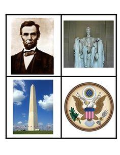 American Symbols Concentration Game