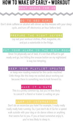 how to wake up early and work out