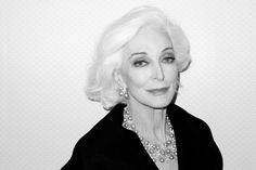 Carmen Dell'Orifice, by Terry Richardson.  80 yrs old, what?! Gorgeous.