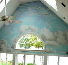 Summer Sky MuralDecorative Painting Ideas for a Trey/Tray Ceiling www.arteriorsfaux.com