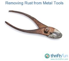 This is a guide about removing rust from metal tools. Tools that are free of rust are much nicer and easier to use. Whether you accidentally left them out overnight or picked up some tools cheap at a garage sale, sometimes you need to clean the rust off of metal tools.