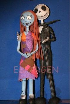 (3) EspArgen  Jack y Sally protagonistas de la pelicula de dibujos animados de Pesadilla antes de navidad