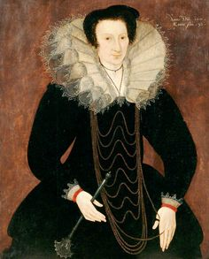1601 Portrait of a Lady of the Shelton Family by unknown artist | Epic necklace.