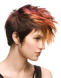 colorful faux hawk