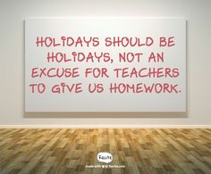 homework should not be given