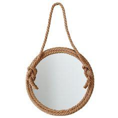 top rope nautical mirror