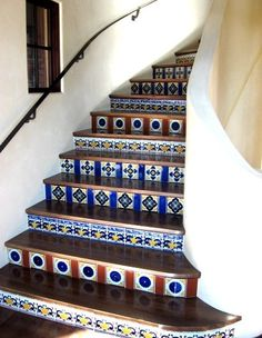 Tiled Stairs Design, Pictures, Remodel, Decor and Ideas - page 2