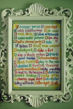 framed summer to-do list