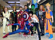 Super Junior return from South America as Superheroes