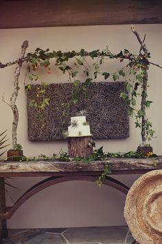 Woodlands Wedding Cake Table