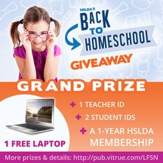 Announcing our Back to Homeschool Giveaway! We have great prizes in store for you, all you have to do is enter! | Enter by clicking here now! (Contest rules apply, see page for details):
