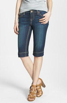 KUT from the Kloth 'Natalie' Flap Pocket Denim Bermuda Shorts (Invisible)   Nordstrom
