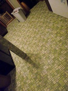 """Oddly this """"ugly"""" flooring wouldn't be too bad in the new kitchen that I am trying to create."""