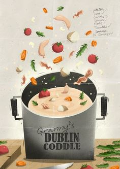 Grannys Dublin Coddle by Peter Donnelly, via Behance