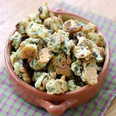 Oven-Fried Okra from It's Not Easy Eating Green.