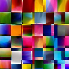 From colour squares to colour stripes