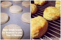RECIPE: Quick And Easy Fresh Scones For Breakfast #baking #recipes #scones #breakfast