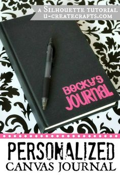 Personalized Journal with Silhouette Double-Sided Adhesive