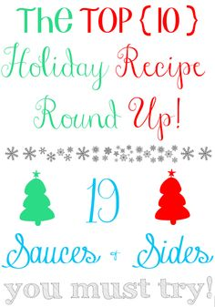 Gastronomical Sovereignty: 19 Amazing {real food} Holiday Sides Recipes You Must Try I like it saucy on the side - the Holiday Recipe Round Up Day 5: Sauces, Sides  Soups! http://www.gastronomical...