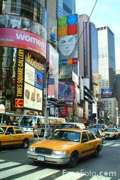 Photographs of Times Square, New York City.  Known as the Crossroads of the World, Times Square is the heart of New York City.