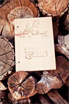 Wooden wedding guestbook ideas. Captured By: Stephanie Sunderland Photography ---> http://www.weddingchicks.com/2014/06/03/diy-your-wedding-in-a-field/