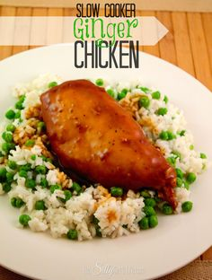 Slow Cooker Ginger Chicken via @Dana Curtis @ This Silly Girl's Life