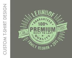 Family Reunion Shirt Custom Graphic Design by ewindbiglerdesign, $14.95