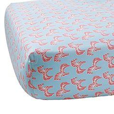 Zebra Crib Sheet – Punch | Serena & Lily