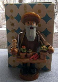 Erzgebirge Wooden German Smoker Farmer Gardener | eBay