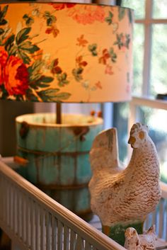 Old Ice Cream Bucket...re-purposed a primitive lamp!
