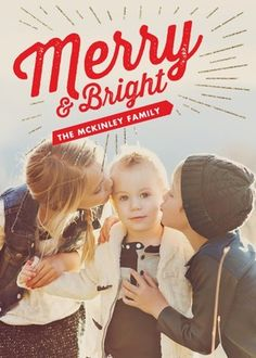All is merry and bright with this adorable photo card. #TinyPrintsCheer