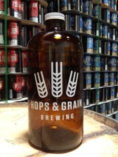 oz growler, brew lot, grain brew, hop