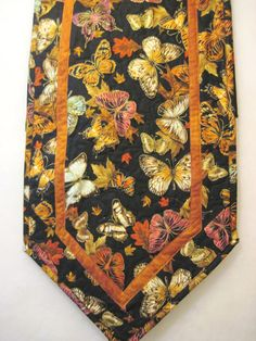 Quilted  table runner Butterflies by KellettKreations on Etsy, $29.00